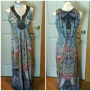 Flowy Summer maxi dress. Size Small